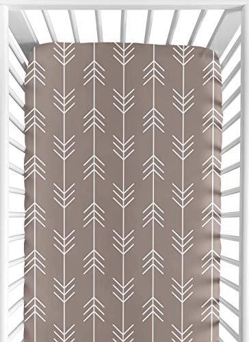 Fitted Crib Sheet for Outdoor Adventure Baby/Toddler Bedding – Arrow Print