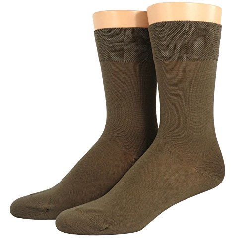 Shimasocks Herren Business Socken gasiert- mercerisiert viele Farben, Größe:43/46, Farben alle:mittelbraun