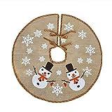 Awtlife - Tela navideña para base de árbol con diseño navideño (tamaño 75 cm)