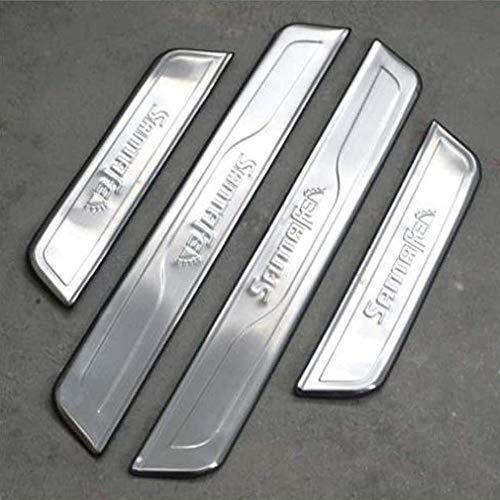 Car Store 4 StÜCke Einstiegsleisten Edelstahl Scuff Pedal Protector Aufkleber Auto Styling ZubehöR FüR Hyundai Santa Fe ix45 2013-2017