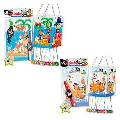 Piñata Piratas para cumpleaños y Fiestas Infantiles. Incluye una Pulsera a Juego