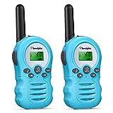 Sorulykin Juguetes para niños de 3 a 12 años, walkie-Talkie portátil para niños, hasta 3300 Metros de Alcance, Radio de 2 vías, Equipo de Aventura para Acampar, Caminar, Juegos, 2 Piezas