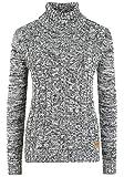 Oxmo Philipa Jersey De Cuello Alto Jersey De Punto Suéter Sudadera De Punto para Mujer con Cuello Alto Doblado, tamaño:S, Color:Insignia B (791991)