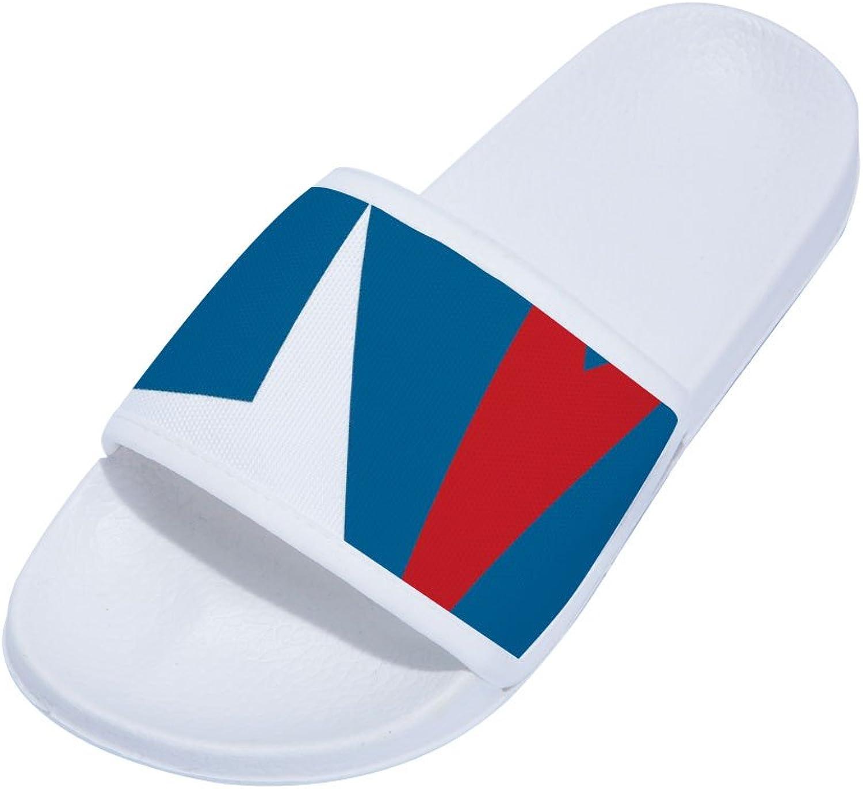 Buteri Simple Pattren Flag Slippers Non-Slip Quick-Drying Slippers for Womens