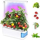 CRZJ Kit de jardín Interior Inteligente, Sistema de Cultivo hidropónico, Brazo Ajustable de 360 Grados, Alarma de Nivel bajo de Agua, Ensalada de Hierbas Frescas para jardín con Verduras Verdes,Azul
