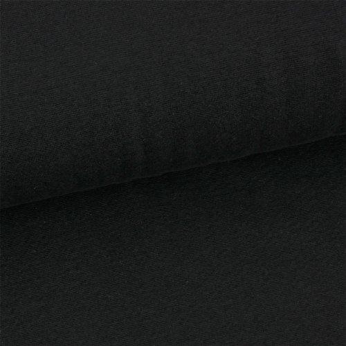 0,5m Jersey uni schwarz Meterware