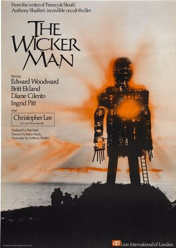 The Wicker Man 1970's Hammer Horror Poster A3 Print