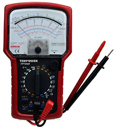 Tekpower TP7040 20-Range AC/DC Analog Multimeter General Purpose with High Accuracy and Well Built Details, Strong Needle