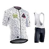 Hplights Conjunto Ropa Traje Ciclismo Hombre para Verano, Maillot Ciclismo Manga Corta + Culotte Ciclismo Bicicleta Pro Equipo Bicicleta Jersey,B,XL