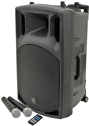 QTX | QX15PA Complete Portable PA System | 2 x Wireless Microphones & Media...
