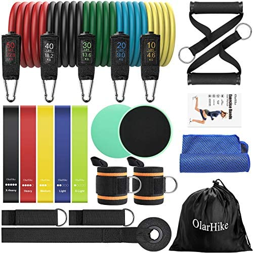 OlarHike Exercise Bands Set for Home Working Out 23pcs Resistance Bands Set with Handles Loop product image