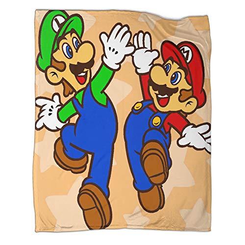 Manta decorativa ligera para cama, sofá, Super Mario Bros Cheering Pose manta de verano para sofá 150 x 200 cm