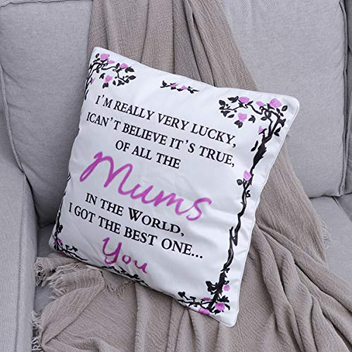 WINOMO Cushion Cover Pillow Case Decorative Ppillows Mothers Day Gift For Mum