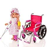 Molly Dolly 18 Zoll Puppe Rollstuhl Krankenhaus Set
