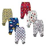 NammaBaby Pajama Leggings with Footie for New Born - Set of 6 Original Product from NammaBaby Brand Print Based On Availablity Soft and Comfortable No Need For Socks Now Mummy