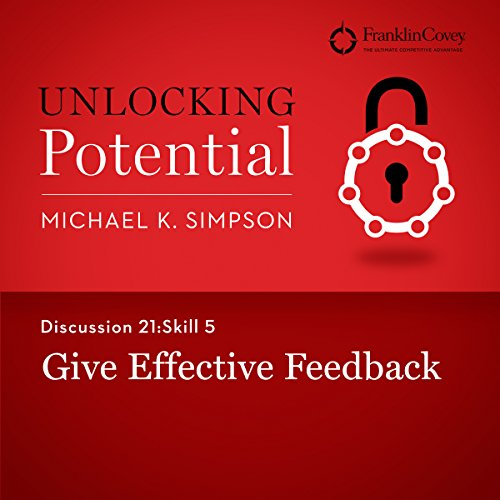 Discussion 21: Skill 5 - Give Effective Feedback audiobook cover art