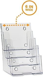 SourceOneOrg Bi-fold 6 Inch 4 Tier Brochure Holder