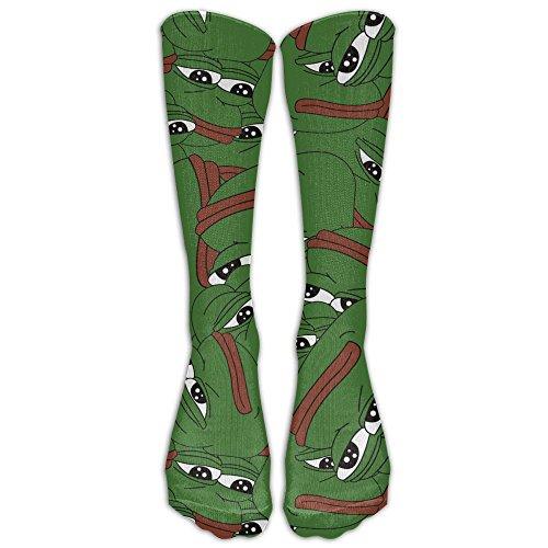 Nanihat Pepe The Sad Frog 1 Pair Over-The-Calf Socks Cosplay Socks Knee High Lightweight Ribbed Dress Stockings
