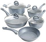 Oster 111937.09 Havendale - Batería de cocina antiadherente (9 piezas, aluminio)