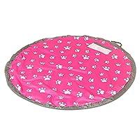 ストレージバッグ 片付けマット おもちゃ収納袋 レゴマット超大キッズマット片付けらくらく収納 防水 ピクニック 物を整理 (ピンク)