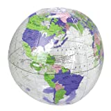 US Toy - Inflatable Clear Globe Beach Ball, Size 11', Made of Vinyl