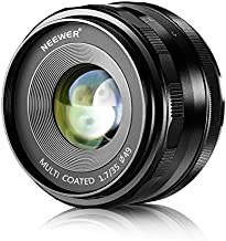 Neewer 35mm F1.7 Large Aperture APS-C Manual Focus Prime Fixed Lens, Compatible with Sony E-Mount APS-C Mirrorless Cameras Sony A7III A9 NEX 3 3N 5 NEX 5T NEX 5R NEX 6 7 A5000 A3000 A6100, etc