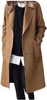 Howely Women's Top Coat Woolen Skinny Mid-Long Thickened Wool Coat