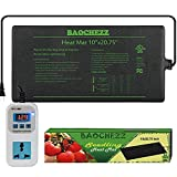 BAOCHEZZ Seedling Heat Mat 10x20.75 inch and Digital Thermostat Controller Combo Set Seed Heating Mat Pat Seed Starting Propagation and Increase for Plant MET Safety Standard Certified (10x20.75)