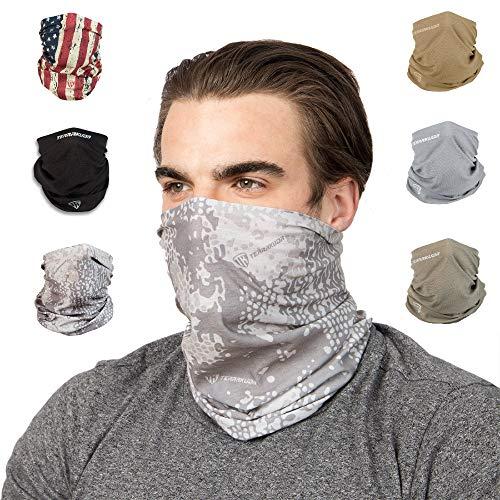 Terra Kuda Face Clothing Neck Gaiter Mask – Non Slip Light Breathable for Sun Wind Dust Bandana Balaclava (Tundra Camo)