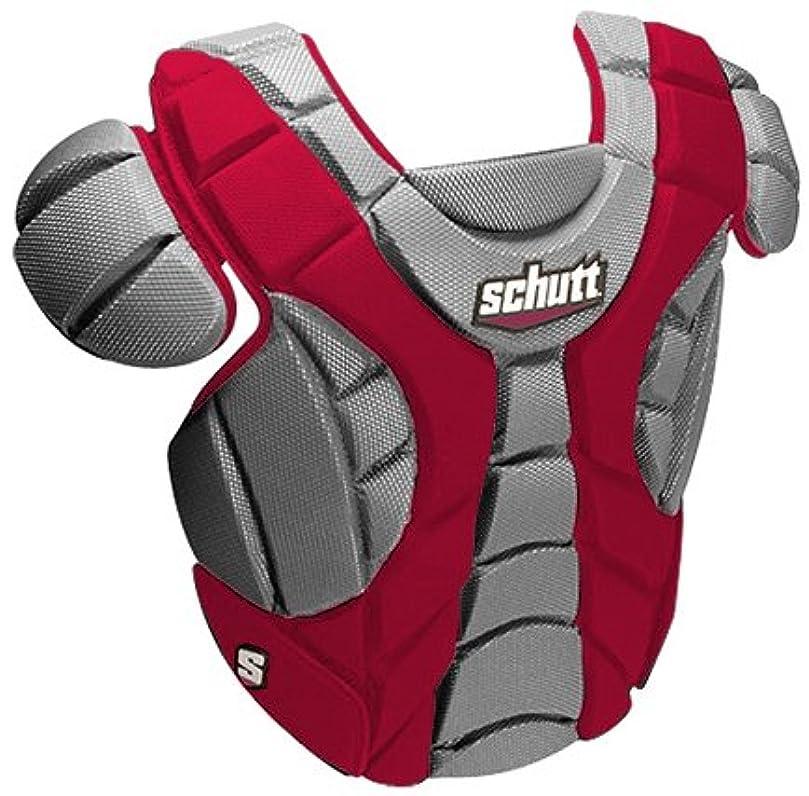 シャットインタラクションピアノを弾くSchutt Sports Scorpion Chest Protector for Softball、スカーレット、12-inch
