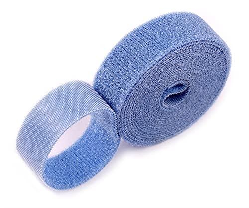 kardborrband 2 meter återanvändbar limförslutningstejp Tillbaka till stark krok och loop Fasteners Kabelband Gardinfäste Magic Tape 3m krok och ögla (Color : 20mm Blue)