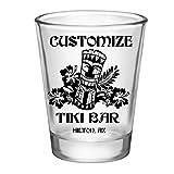 CUSTOMIZABLE - 1.75oz Clear Shot Glass - Tiki Bar - Pack of 12