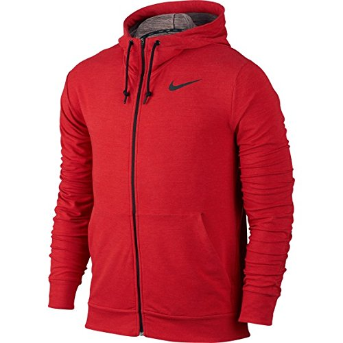 NIKE Dri-Fit Training Fleece FZ HDY - Sudadera para Hombre, Color Rojo/Negro, Talla S