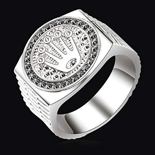 Special&kind Preferred Fashion Hip Hop 18K Gold Iced Out Crown Ring für Herren Verlobung Hochzeit Party Ringe Schmuck für Geburtstag, Valentinstag, Jahrestag SV-8