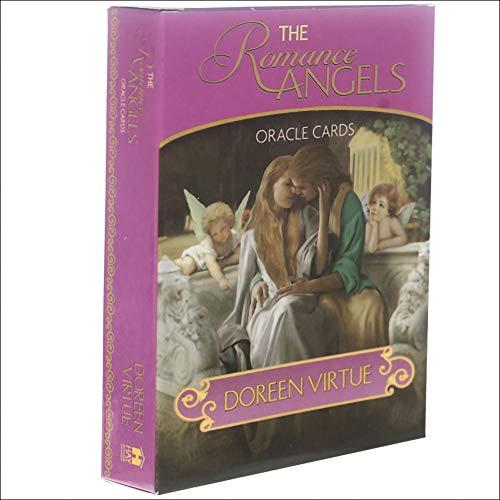 Gilded Romance Angels Oracle, Familienparty-Solitärspiel, Wahrsagung, Schicksal, Brettspiel, 44 Karten, Tarotkarten, englische Version