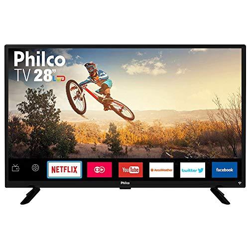 """TV Monitor Smart LED 28"""" HD Philco PTV28G50SN com Wi-Fi, Netflix, Conversor Digital Integrado, Dolby Audio, Midiacast, Entradas HDMI e USB"""