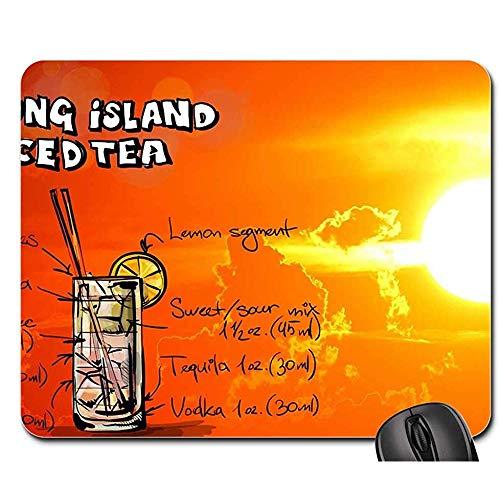 Schreibtischunterlage,Long Island-Eistee-Cocktail-Sonnenuntergang-Getränk-Alkohol-Lustige Desck-Spiel-Auflage 25X30Cm