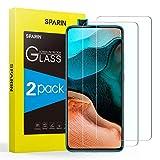 SPARIN [2-Pack Cristal Templado Poco F2 Pro/Redmi K30 Pro, Protector Pantalla Xiaomi Poco F2 Pro/Redmi K30 Pro Vidrio Templado con [2.5d Borde Redondo] [9H Dureza] [Alta Definicion]