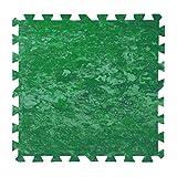 INTACTO Puzzle Protector Suelo Piscina, 9 Piezas de 500x500x5 mm. de Grosor (Verde Batik)