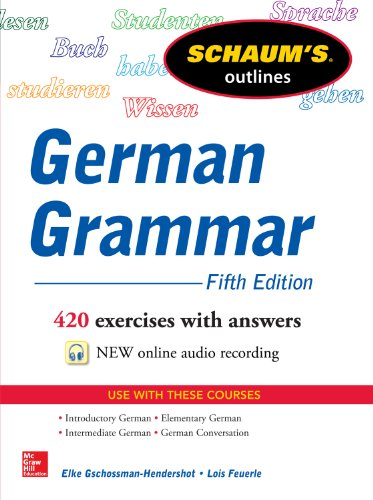 Schaum's Outline of German Grammar (Schaum's Outlines Book 5) (English Edition)