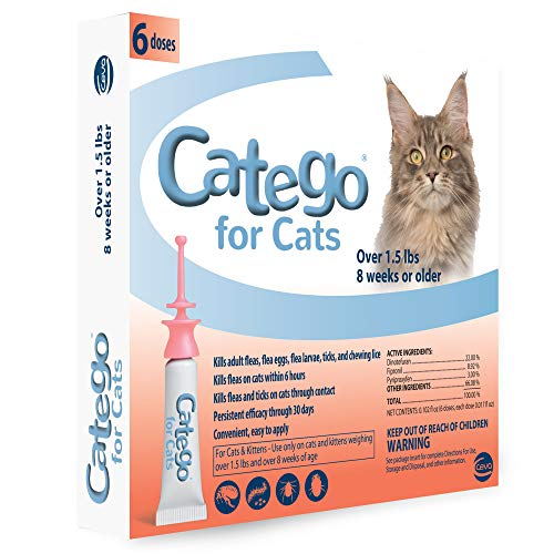 Catego Fast-Acting Flea & Tick Treatment for Cats/Kittens