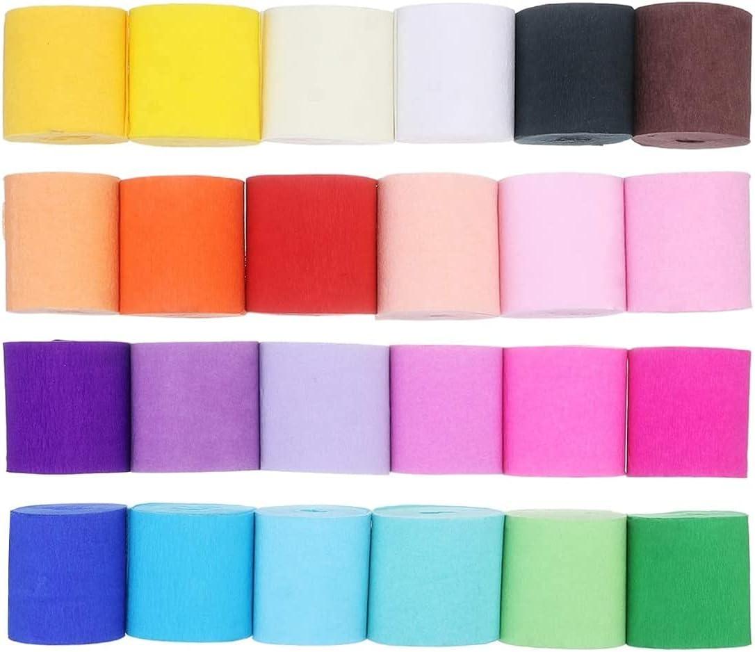 Papel crepé de 24 colores por sólo 6,49€ con el #código: IZO8IYN3