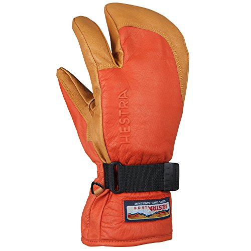 HESTRA(ヘストラ) 3-FINGER FULL LEATHER 3087 540700(F Red/Nt Brown) 7