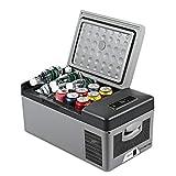 LIXUDECO Mini Nevera Coche de refrigerador congelador Casa portátil para autocares con refrigerador 15L Compresor portátil 12V / 24V 220V Control de Aplicaciones