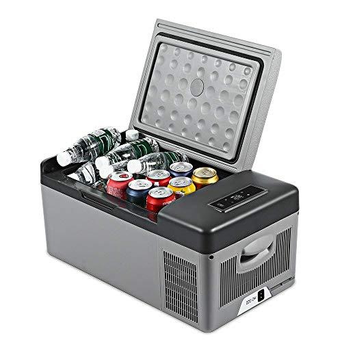 GNLIAN HUAHUA refrigerador Coche de refrigerador congelador Casa portátil para autocares con refrigerador 15L Compresor portátil 12V / 24V 220V Control de Aplicaciones