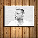 zhuifengshaonian Mac Miller Rap Hip Hop música Estrella Cantante Arte Pintura Lienzo póster Pared decoración del hogar Obra de Arte(ZE-874) Sin Marco Poster 40x60cm