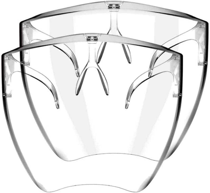 yxcmeoa Clear Face/_Shields Visor Transparent Anti Fog Shields Combine Plastic Reusable Glasses Lightweight