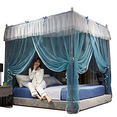 Cortina De Cama con Dosel, Cama De Matrimonio, Dosel, Mosquitera, Estilo Princesa para Dormitorio(150 * 200 * 200)