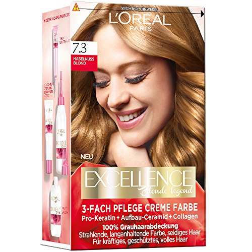 L'Oréal Paris Excellence Creme Coloration, 7,3 - Haselnußblond