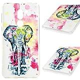 MUSESHOP Funda Huawei Honor 6X, Carcasa Ultrafina Delgado Flexible Suave TPU Silicona Case Cover Cubierta Protectora de La Caja del Teléfono a Prueba de Golpes Ligeropara - Elefante